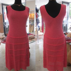 Sleeveless Jersey Boucle Dress